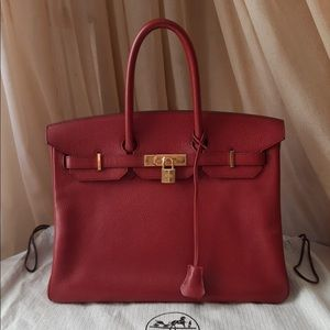 Hermès Birkin 35 Red with GHW